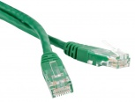 Патч-корд UTP, Cat.5e, LSZH, 0.5 м, зеленый, Hyperline PC-LPM-UTP-RJ45-RJ45-C5e-0.5M-LSZH-GN